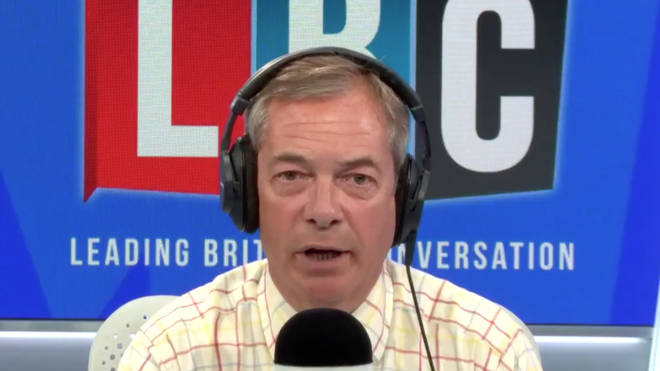 Nigel became very emotive while addressing the leaked government report