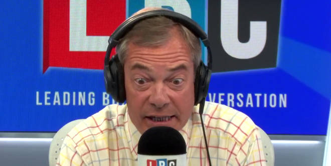 Nigel Farage had a blazing row with caller Claire