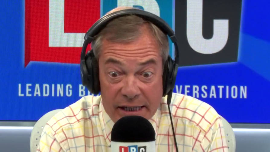 """Are You Deluded?"" Nigel Farage's Furious Row With Caller Over No-Deal"