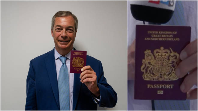 Nigel Farage shows LBC's audience his new passport