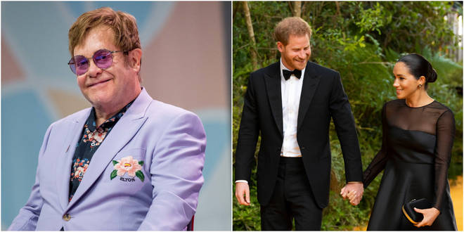 Sir Elton John has defended the Duke and Duchess of Sussex's use of private jets