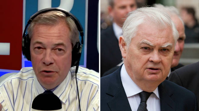 "Lord Lamont told Nigel Farage the House of Lords has ""overstepped the mark"" on Brexit."