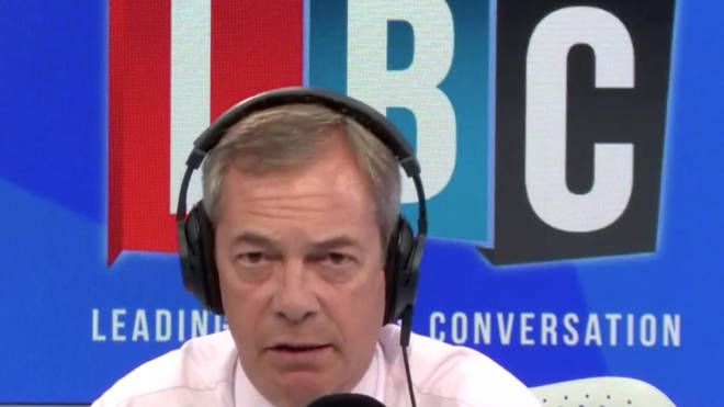 Nigel Farage was speaking about equipping more police with taser