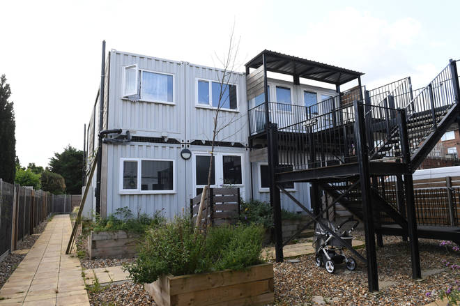 Shipping containers are being used as temporary accommodation in Bristol, Cardiff and London