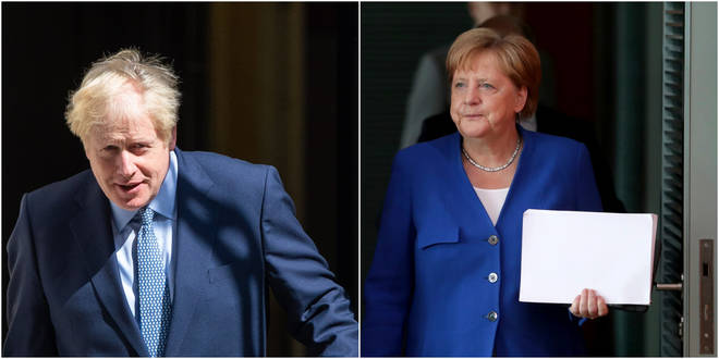 Boris Johnson will meet Angela Merkel in Berlin later