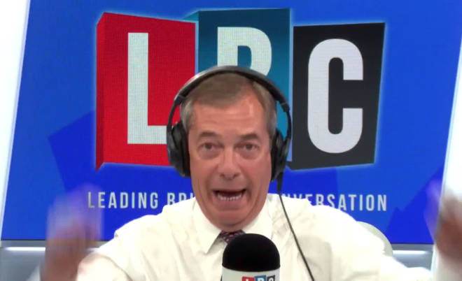 Nigel told LBC people were starting to see the real Boris Johnson