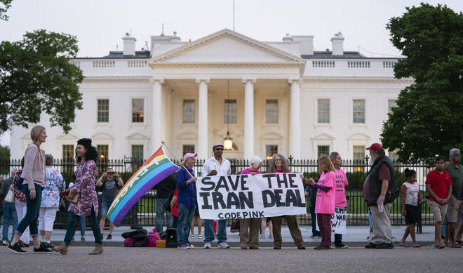 Protesters outside the White House