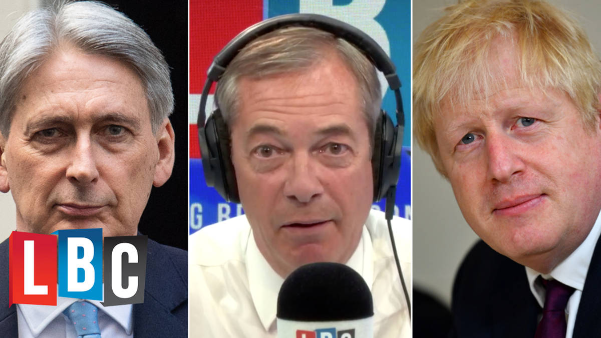 Nigel Farage Responds To Philip Hammond's Letter To Boris Johnson Over No-Deal Documents