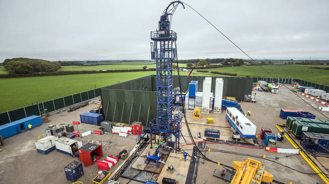 Cuadrilla fracking site in Lancashire