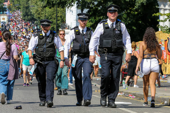 Met Police officers at Notting Hill Carnival