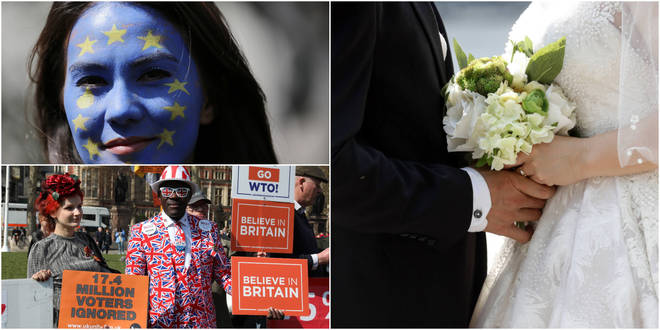 A YouGov poll says 39% of Remainers would be upset if their child married a Leave voter