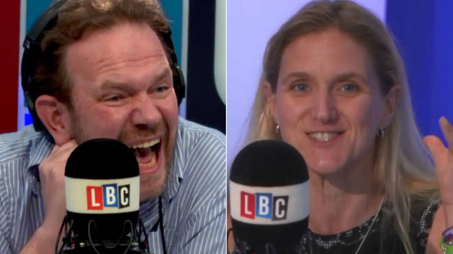 James O'Brien with Kim Leadbetter, Jo Cox's sister