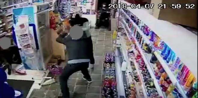 Shopkeepers fight back with wine bottles