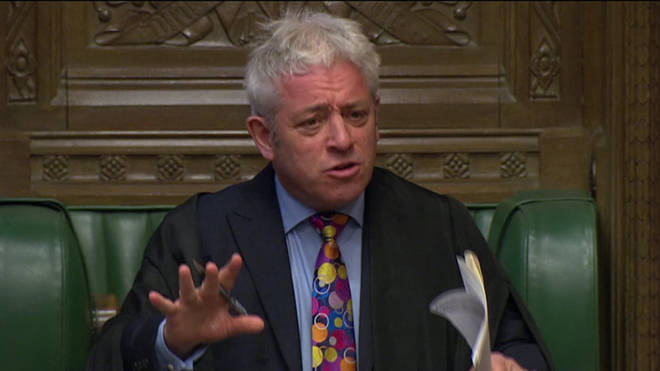 John Bercow has spoken out against the Prime Minister's plan