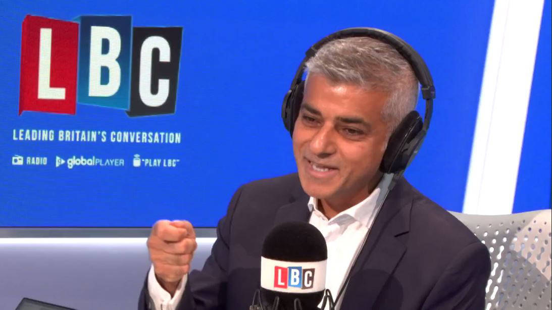 Sadiq Khan's Response To Caller Who Says He Has More PR Officers Than Police Officers