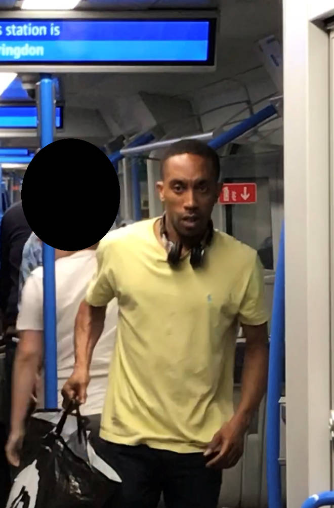 This man is wanted in connection with an assault on a Thameslink train in Farringdon