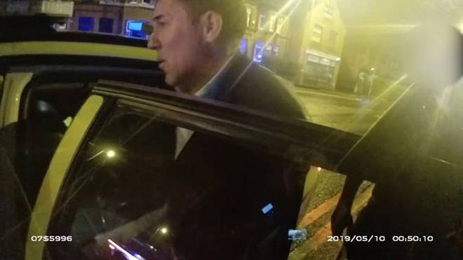 The Criminal Prosecution Service have released video of Dean Saunders being arrested