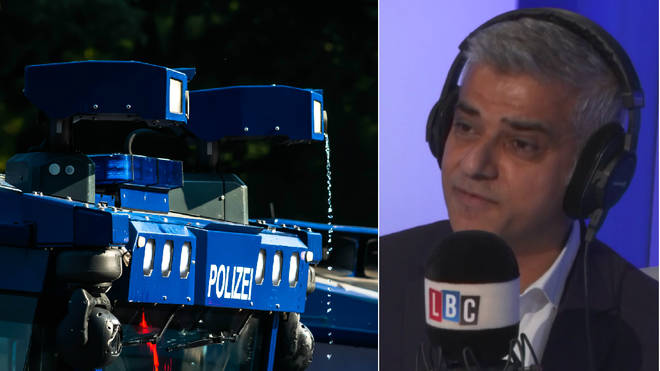 Sadiq Khan had bad news over the water cannon