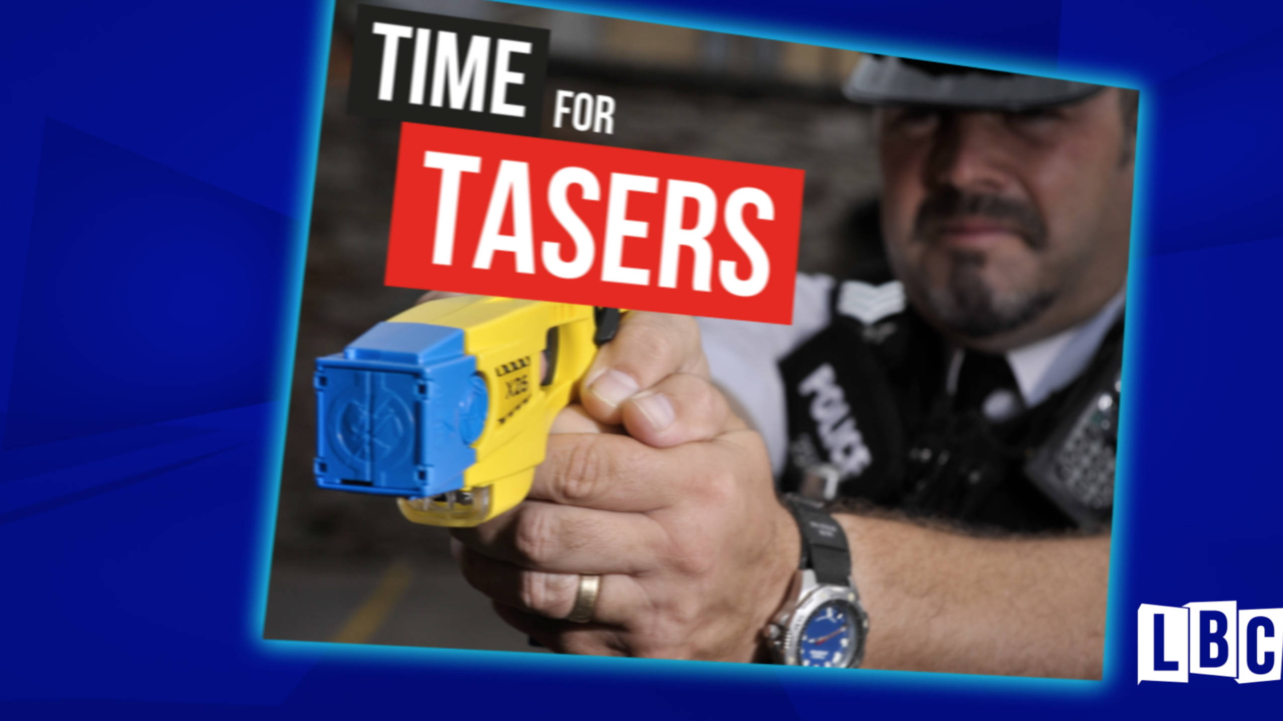 Public Overwhelmingly Back LBC's Call For All Police To Carry Tasers