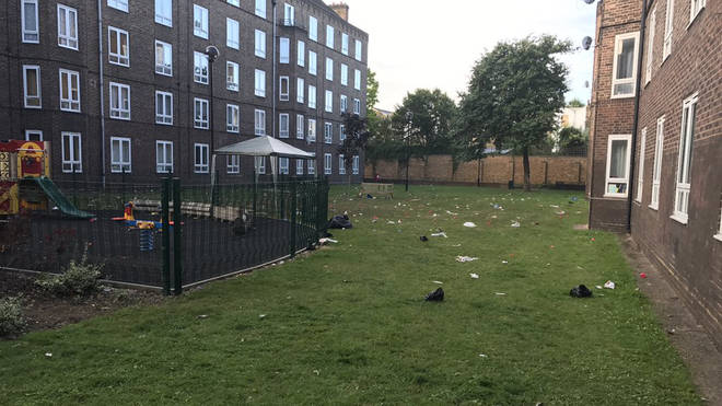 Three officers were hurt following the disturbances in south London