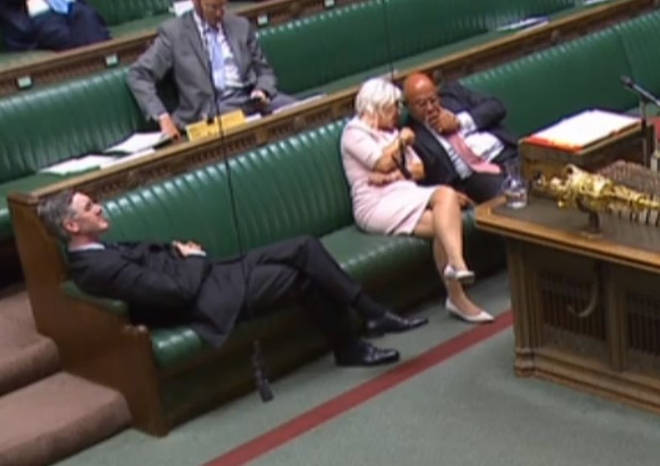 "Fellow MPs told the Leader of the House to ""sit up man!"""