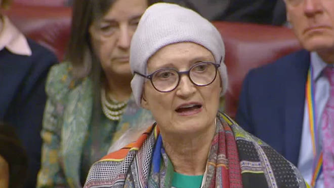 Dame Tessa Jowell received a standing ovation after her final speech in the House of Lords.