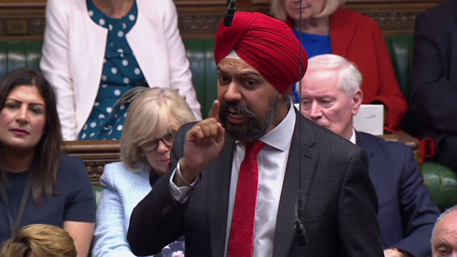 Tanmanjeet Singh Dhesi made his powerful point in parliament