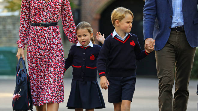 Charlotte Cambridge, as she is to be known as to her teachers and peers, waved as she arrived
