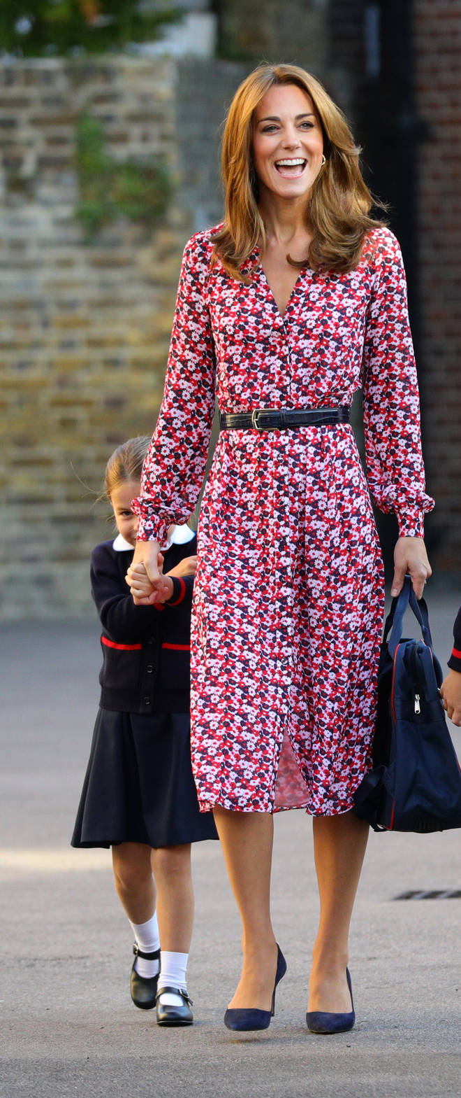 The Duchess of Cambridge missed George's first day of school after suffering from morning sickness with Prince Louis