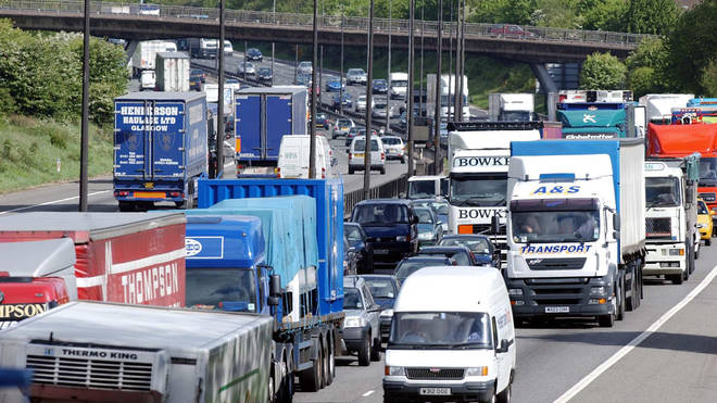 Motorists were left queuing for miles after a gin lorry spilt its cargo (file picture)