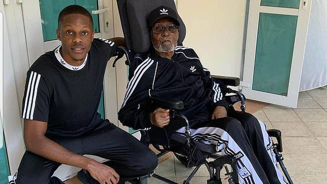 His son, Robert Jnr, posted these photos of his father in Singapore on social media