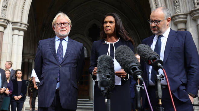Brexit campaigner Gina Miller speaks at the High Court after today's ruling