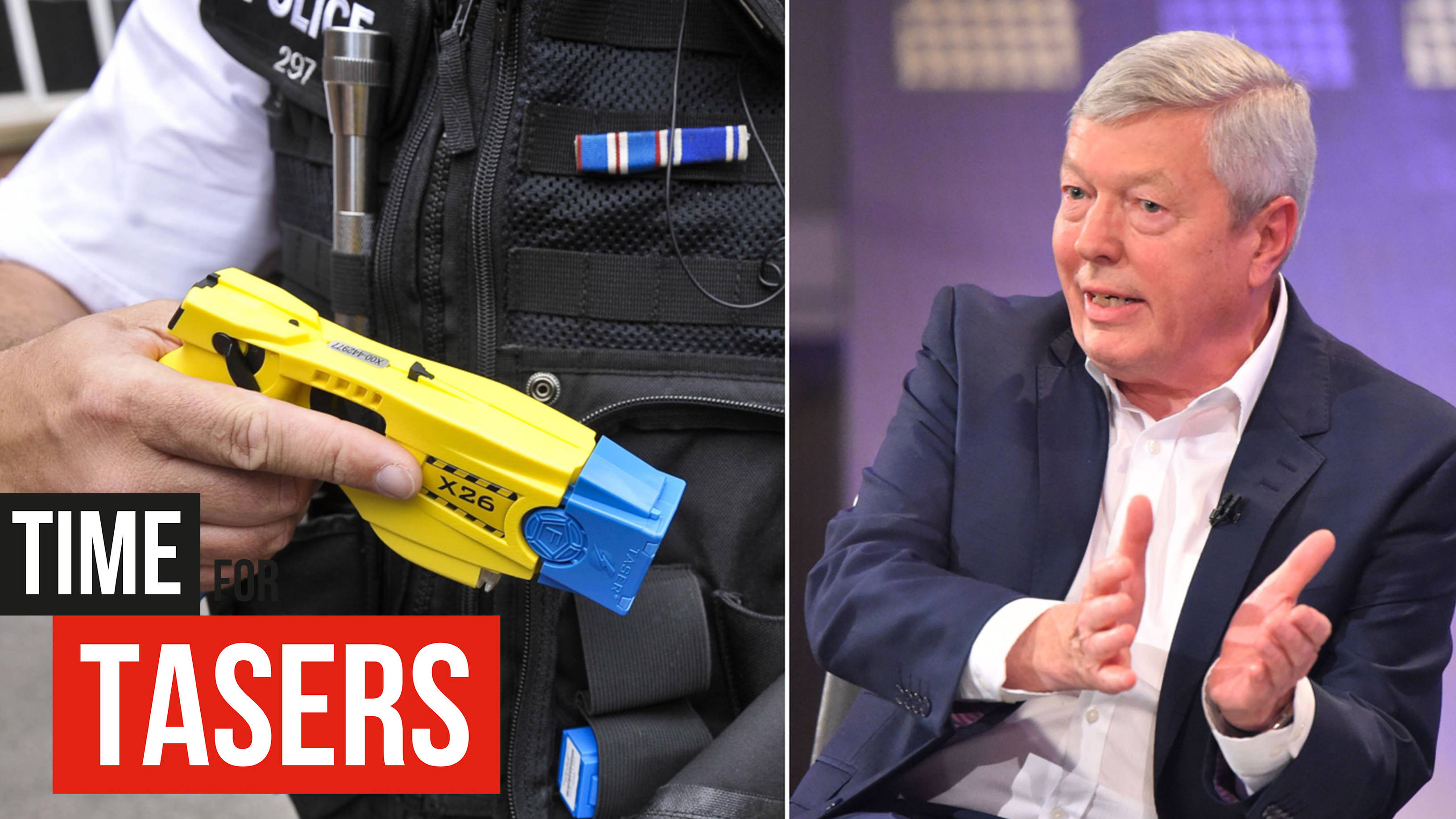 It Is Time For Tasers, Says Former Home Secretary Alan Johnson