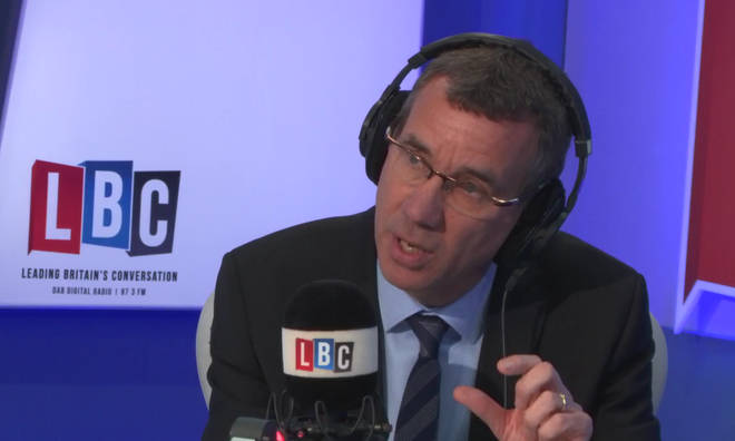 Mark Regev in the LBC studio