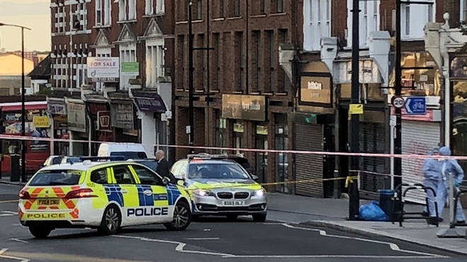 Police at the scene of the shooting in Sydenham
