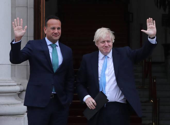 Mr Johnson has spent the day with Irish leader Leo Varadkar