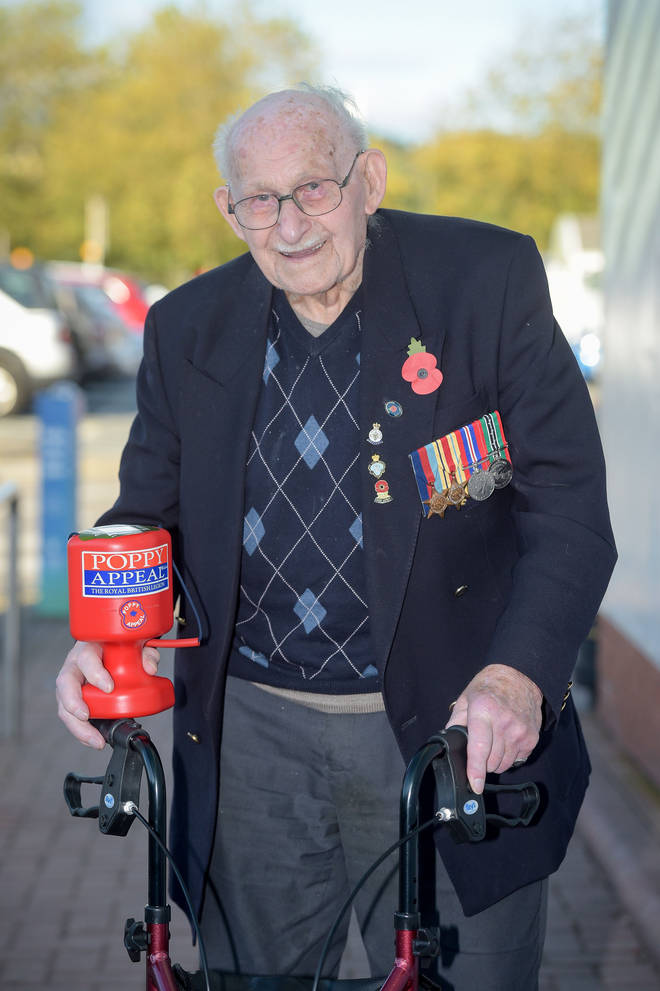 The retired steel worker sold poppies for 30 years
