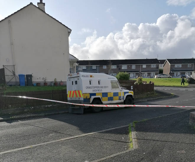 Officers were targeted on Londonderry's Creggan estate