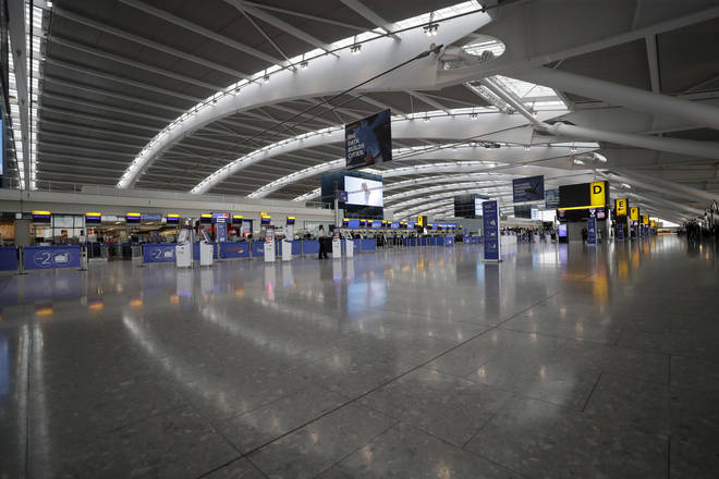 Heathrow airport has been deserted since the strike action began.