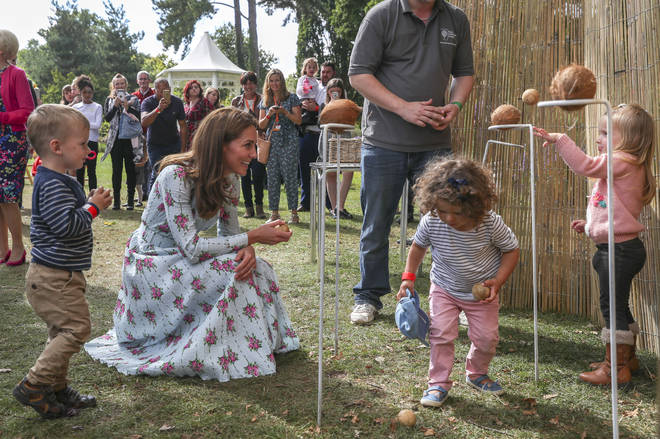 """The duchess formally opened a """"Back To Nature"""" garden at RHS Wisley in Surrey"""
