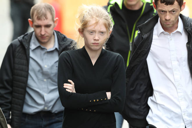 Georgina Lochrane, the mother of schoolgirl Alesha MacPhail arrived at the High Court in Edinburgh where Aaron Campbell appealed against the 27-year minimum sentence he was given for her rape and murder.