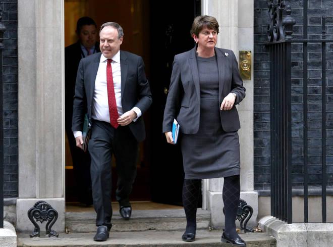 DUP Leader Arlene Forster and Deputy Leader Nigel Dodds