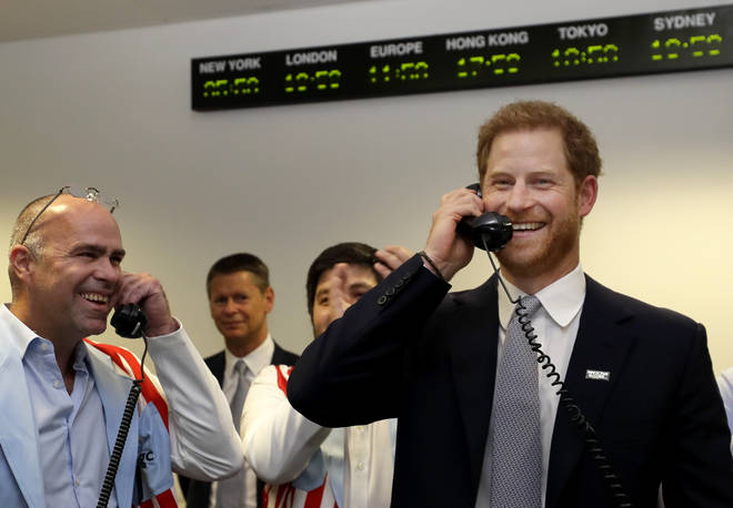 Prince Harry has been raising money for the victims of the 9/11 terror attacks