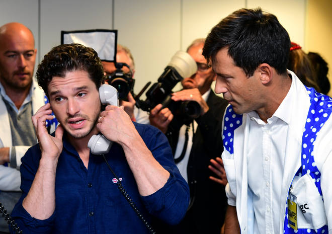 Other celebrities, including Game fo Thrones star Kit Harrington, attended the fundraiser