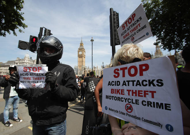 Delivery drivers demand the government act over acid attacks