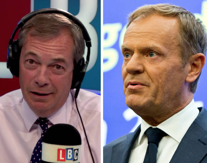 Nigel Farage Donald Tusk