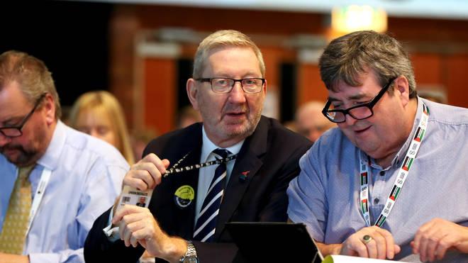 """Len McCluskey said the Labour deputy&squot;s views """"don&squot;t really matter"""""""