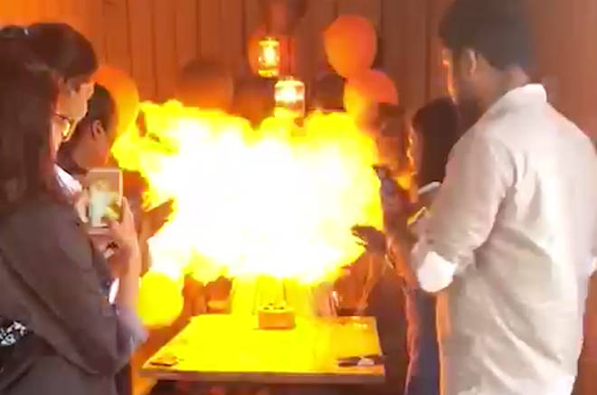 Horrifying Moment Candles Lead To Birthday Party Inferno