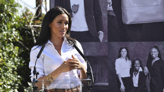 Meghan launched her new charity clothing range at John Lewis on Oxford Street