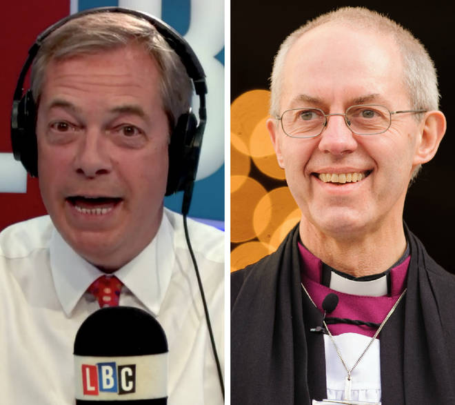 Nigel Farage Justin Welby